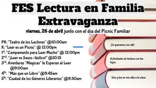 FES Family Reading Flyer- Spanish