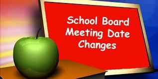 School Board Meeting Date Change