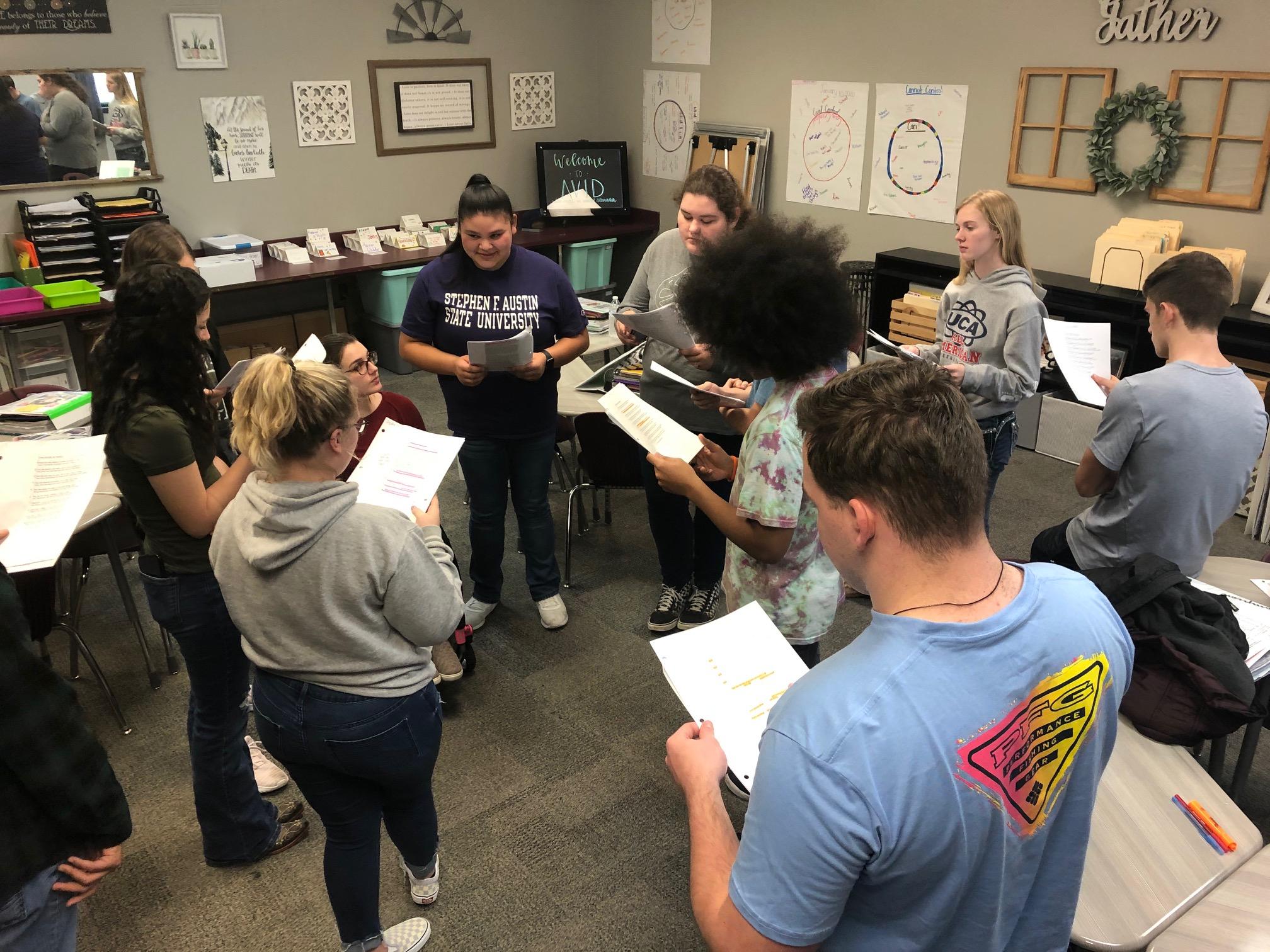 Discussing a Text Through Socratic Seminars