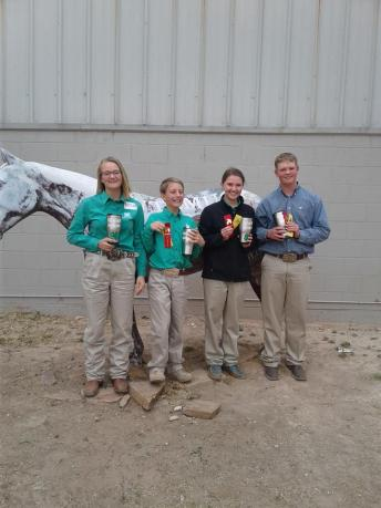 Horse judging @ WT - 2nd place overall sr. team, 2nd team halter placing
