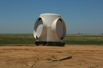 image of wind turbine base