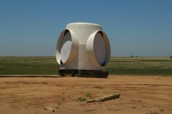 image of wind turbine base