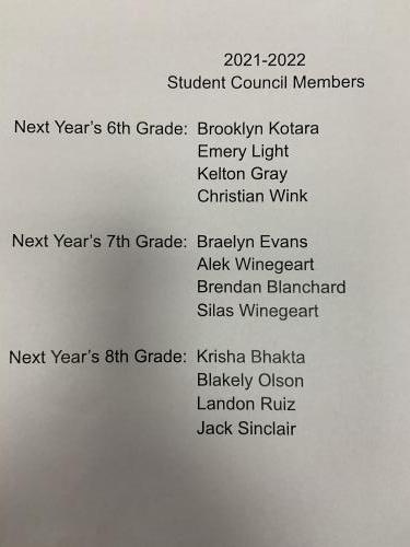 2021-2022 Student Counsel Members