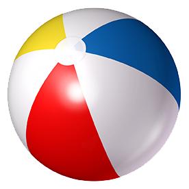 multi color beach ball