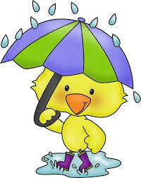 Duck with umbrella