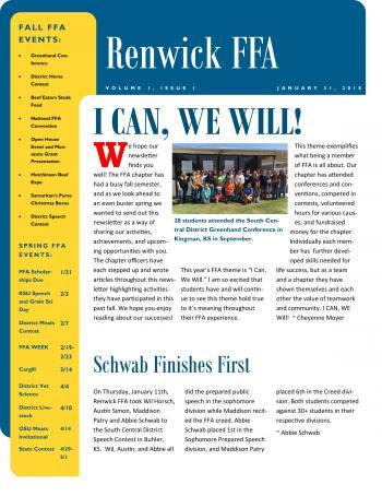 FFA Newsletter