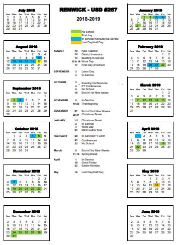 calendar 1819