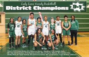 Thumbnail Image for Article Lady Lions Basketball - DISTRICT CHAMPIONS