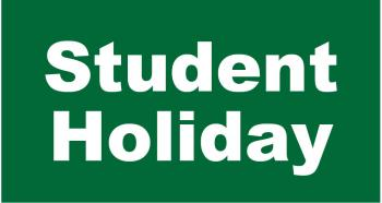 Early Release on Fri., Oct. 11 & Student Holiday on Mon., Oct. 14