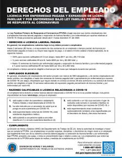 Employee Rights under the Family First Coronavirus Response Act - Spanish