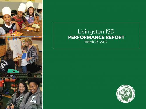March 2019 Performance Report Cover