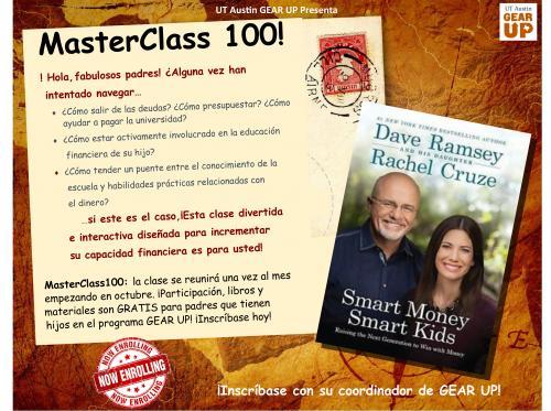 MasterClass Flyer Spanish