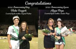 Homecoming King Blake Baggett & Homecoming Queen Alyza Vega