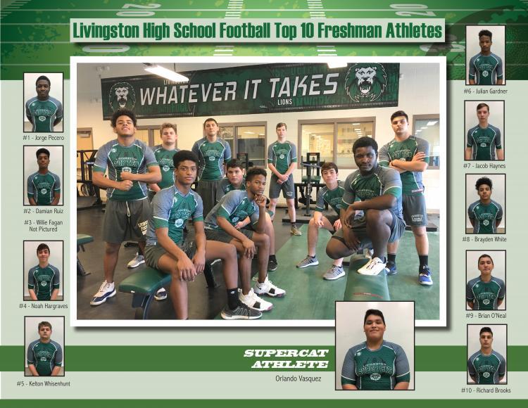 Top 10 Freshman Football Athletes Feb 19