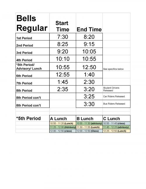 LHS Bell Schedule