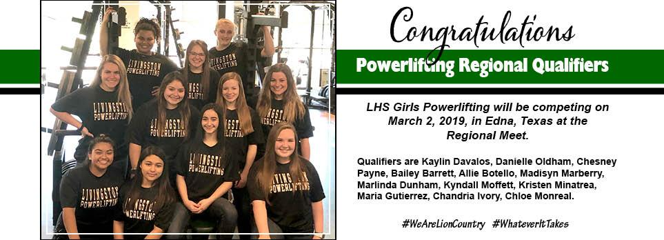 Girls Powerlifting Regional Qualifiers
