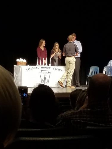 National Honor Society photo from Induction Ceremony