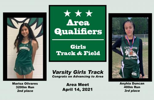 Girls Track & Field Area Qualifiers