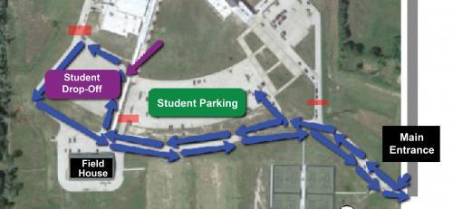 Student Drop Off Diagram