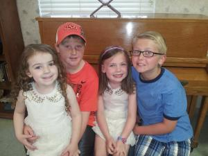 The kids at Easter
