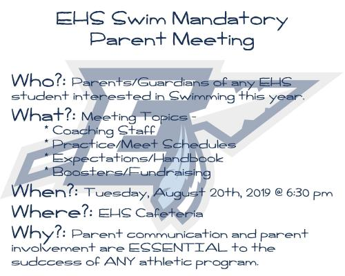 Parent information meeting (required) 19-20