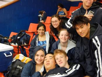 The Swimmers have had a blast at our meets during their downtime.