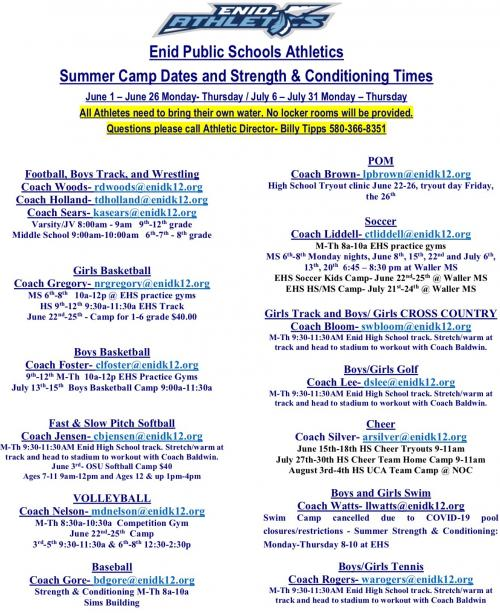 2020 Summer Pride Schedule