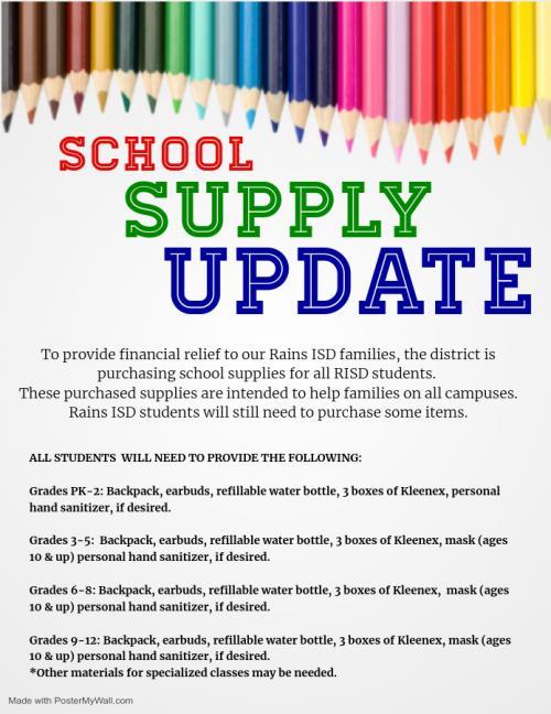 School Supply Update