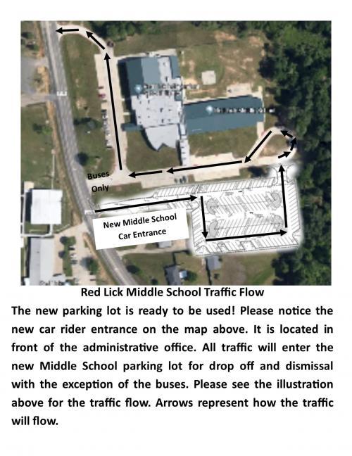 Middle School Traffic Map