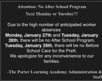 After School Care. Please read!!