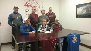 Hannah Sullivan signing with Central Christian College of Kansas