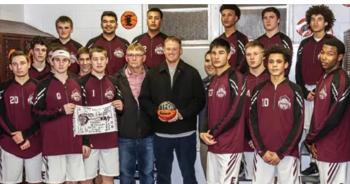 Boys Basketball gift to Coach M. Campbell