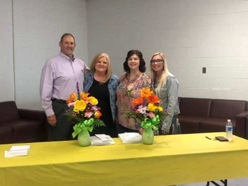 Mr. Bo, Ms. Saxion, Mrs. Crandall, and Mrs. Hickman!