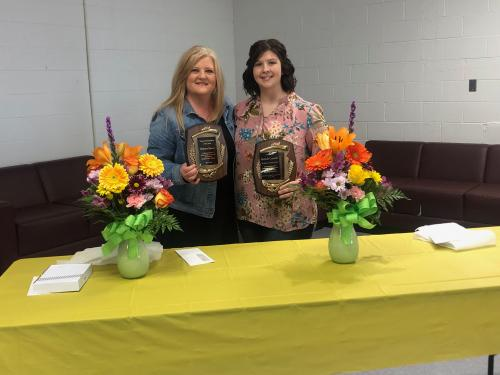 Congratulations to Ms. Saxion and Mrs. Crandall on being named to District Support Staff and Teacher of the Year!