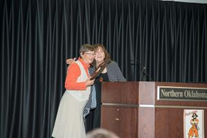 Mary Scott Kirkpatrick Accepting her Award- To Order Photo call Cope Photography at 580-628-2025