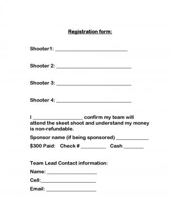 skeet shoot registration