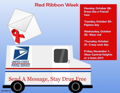 Red Ribbon Promo Flyer