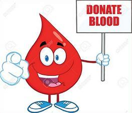 cartoon blood droplet-Donate Blood