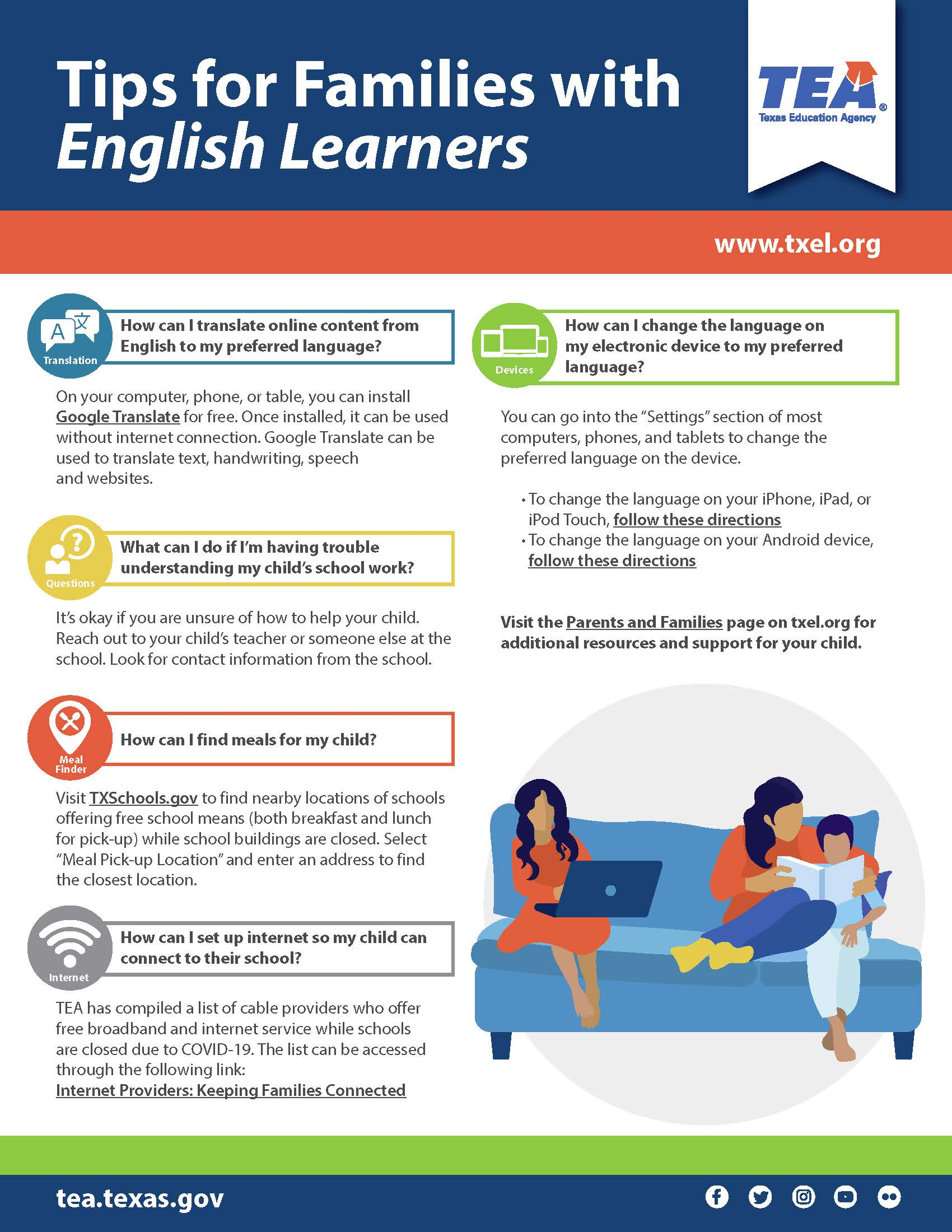 Tips for Families with English Learners