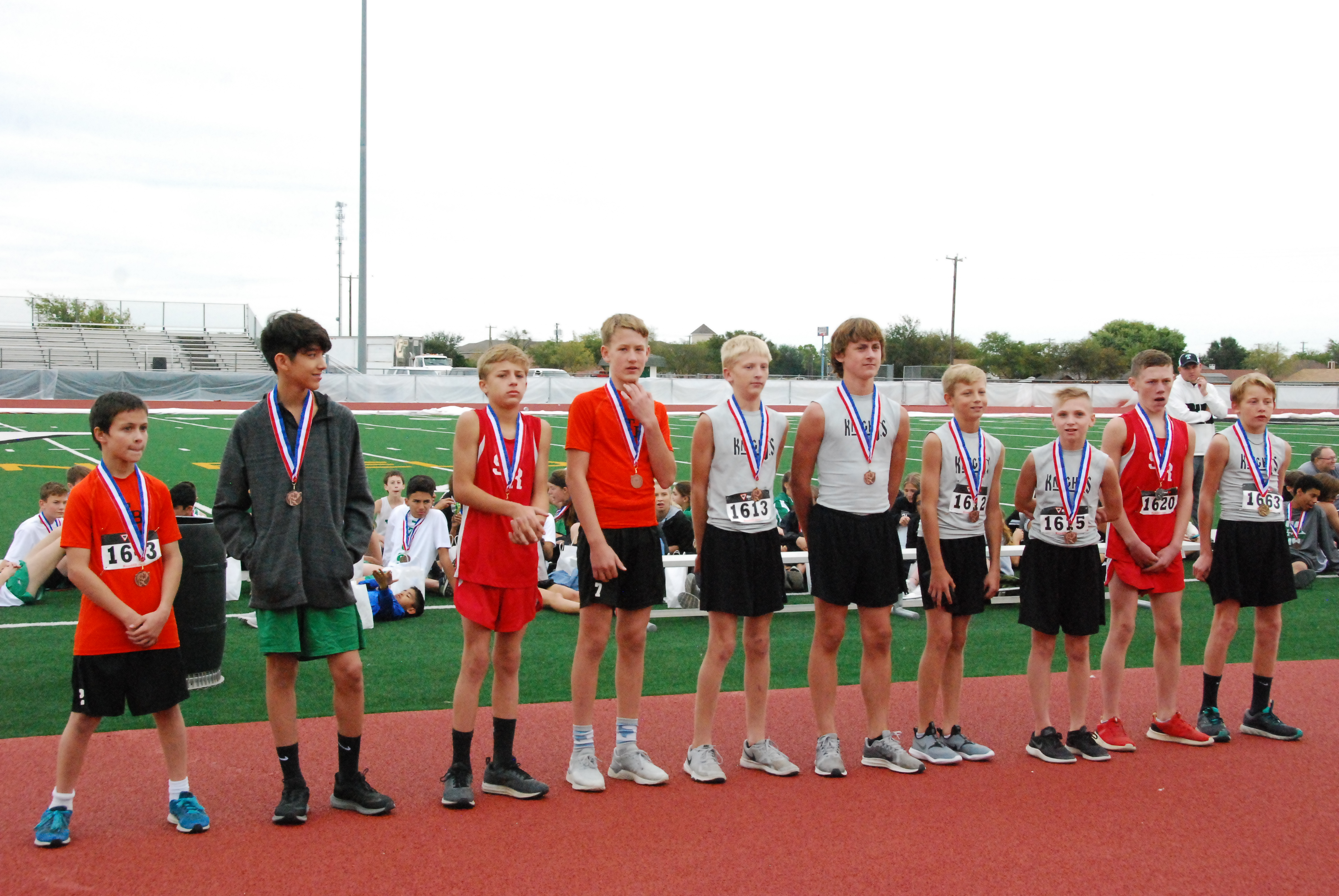 Middle School Boys Cross Country Team