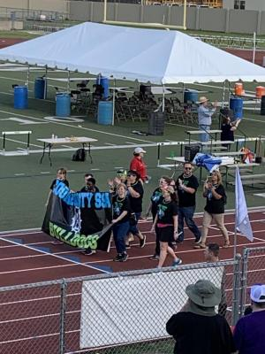 Banner Walk at State meet