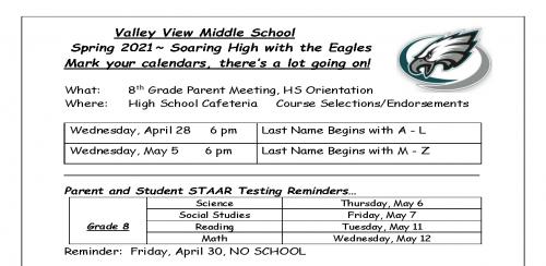 8th grade flyer
