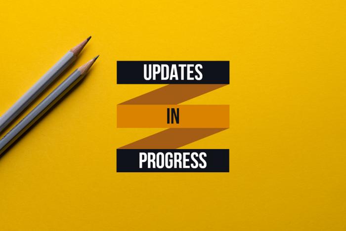 updates in progress graphic