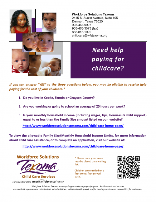 workforce poster about funding for childcare