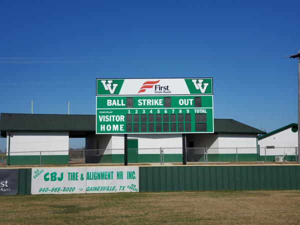 photo of the new baseball scoreboard