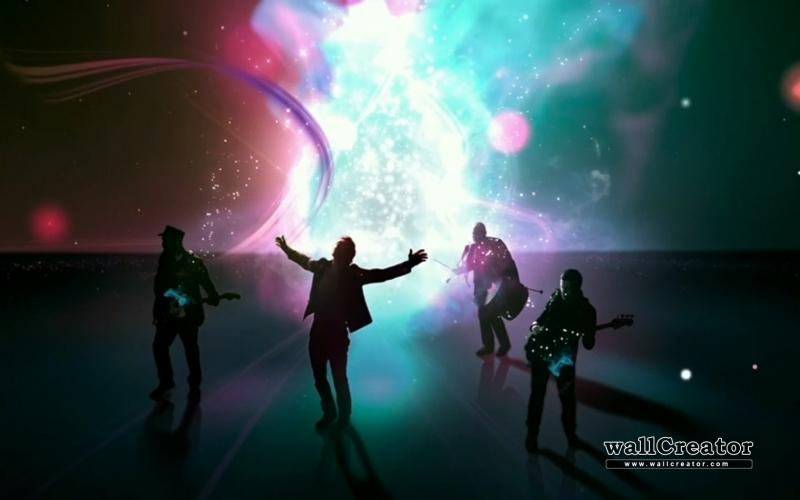 background image of the band Coldplay