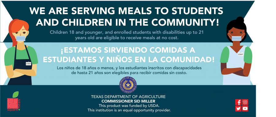 serving meals to students flyer
