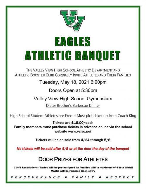 athletics banquet flyer
