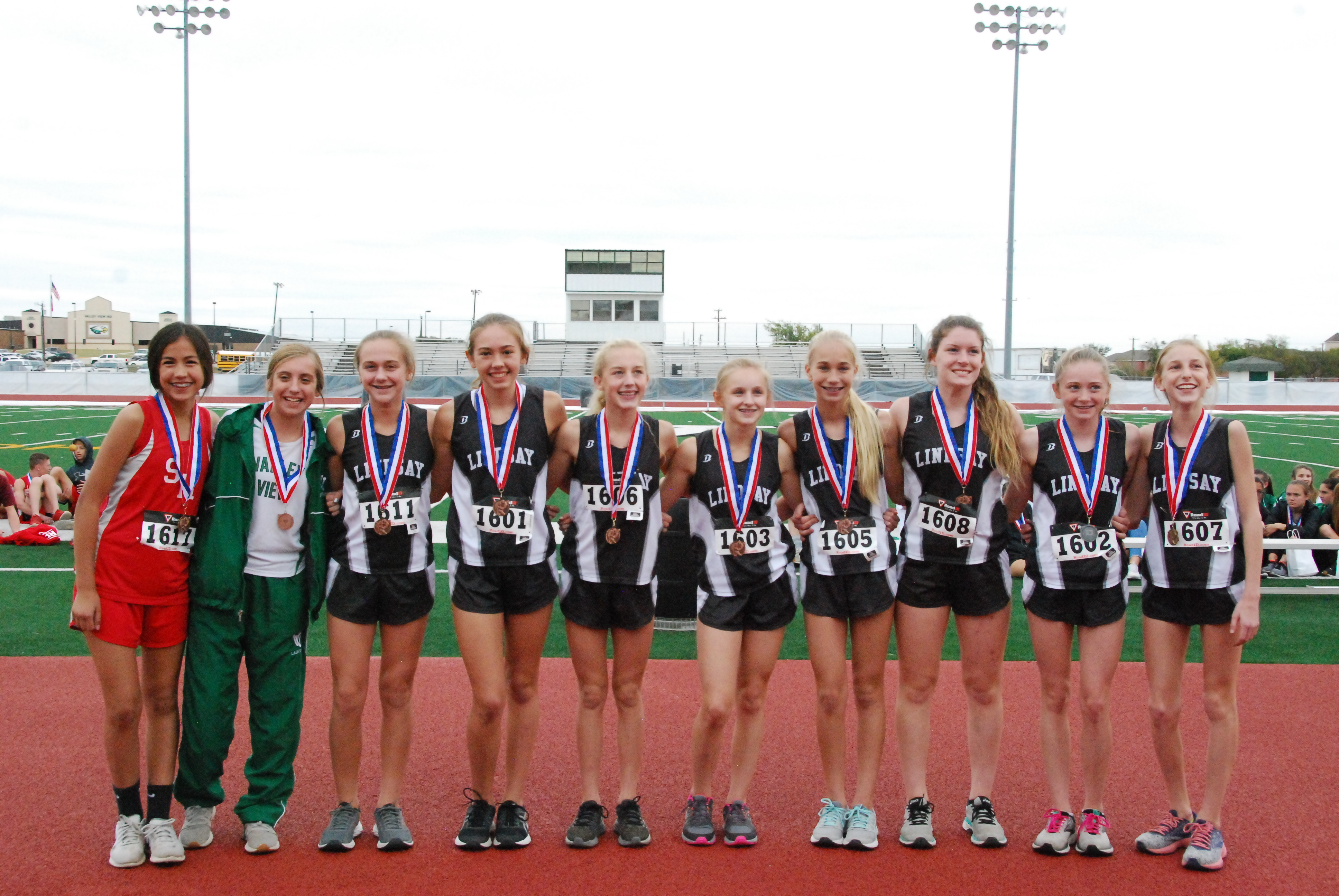 Middle School Girls Cross Country Team