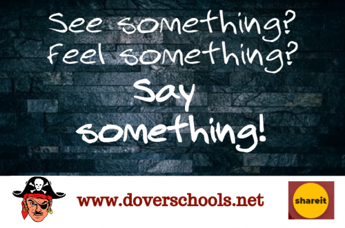 see something? feel something? say something!